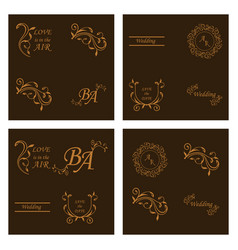 decorative calligraphic elements floral dividers vector image vector image