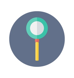 Flat loupe icon over blue vector