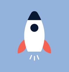 flat style rocket icon vector image