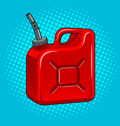 gasoline jerrycan pop art vector image vector image