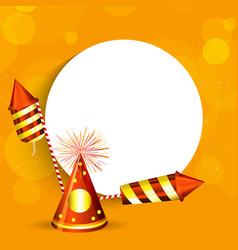 Hindu festival diwali background vector