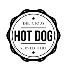 Hot Dog vintage stamp vector image