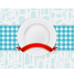 Kitchen plate vector
