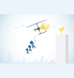 light bulb in the form of a helicopter vector image