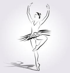 Line sketch of a ballerina vector