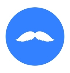 Man s mustache icon in black style isolated on vector