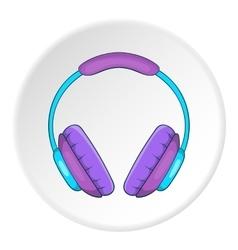 Music headphones icon cartoon style vector