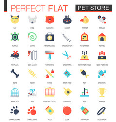 set of flat pet friend icons vector image vector image