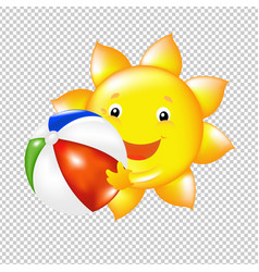 Sun with ball vector