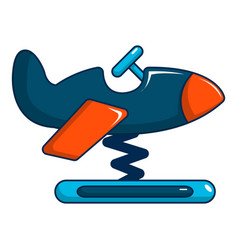 Toy airplane icon cartoon style vector