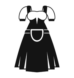 Traditional bavarian dress icon simple style vector