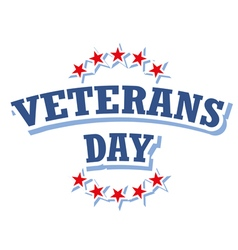 Veterans Day USA logo isolated on white background vector image vector image