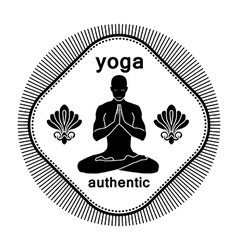 yoga authentic vector image vector image