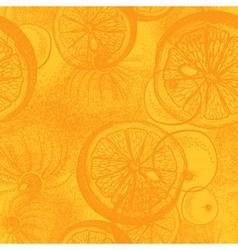 Hand drawn orange or lemon citrus fruit vector image