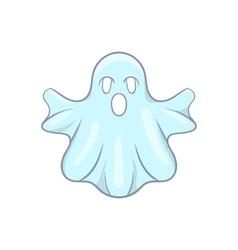 Halloween ghost icon cartoon style vector image