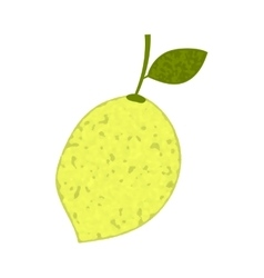 Lemon with sprig and leaf vector