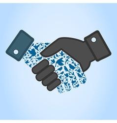 Bird hand shake vector image
