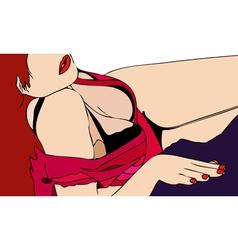 Feminine sensuality vector