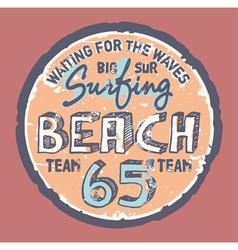 Surfing beach vector image