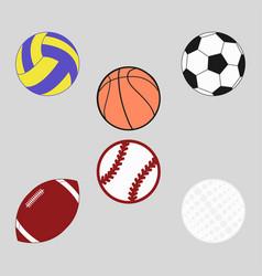 sports balls set for soccer vector image