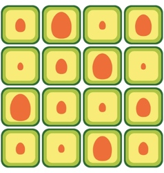 Seamless avocado pattern vector