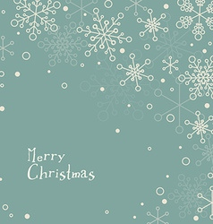 Retro simple Christmas card with snowflakes vector image