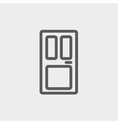 Front door thin line icon vector