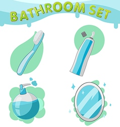 Bathroom symbol icon set a vector