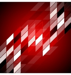 Red hi-tech abstract design vector