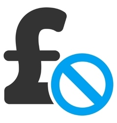 Forbidden pound payment flat icon symbol vector