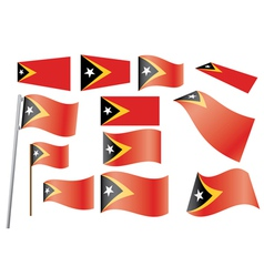 Flag of east timor vector