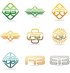 All sales ab abstract symbol vector