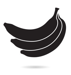 Banana bunch black icon vector