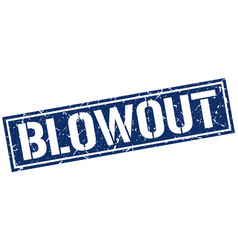 Blowout square grunge stamp vector
