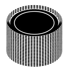 Building roll net icon simple style vector