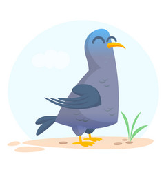cartoon pigeon isolated vector image