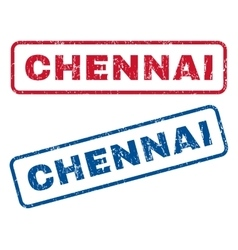 Chennai rubber stamps vector