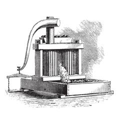 Cider mill vintage engraving vector
