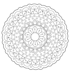 Coloring floral decoration ornament vector
