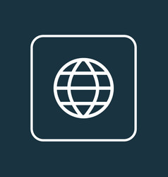 Earth outline symbol premium quality isolated vector