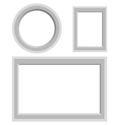 frames set of round rectangular and square shape vector image vector image