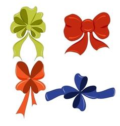 Hand-drawing cute bows vector image vector image