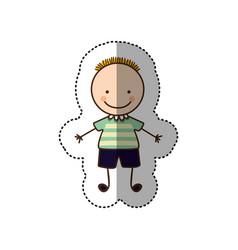 Happy boy cartoon icon vector