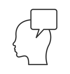 head with conversation bubble icon vector image
