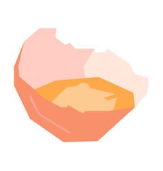 Isolated geometric broken shell vector