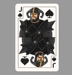 Jack spades playing card vector image vector image