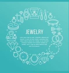 jewelry shop diamond accessories banner vector image vector image