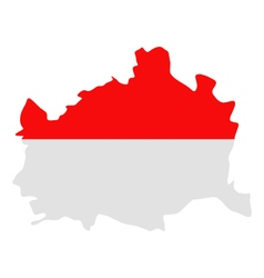 Map and flag of Vienna vector image