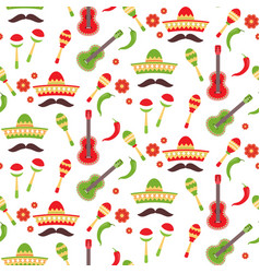 Mexican repeating seamless pattern cinco de mayo vector