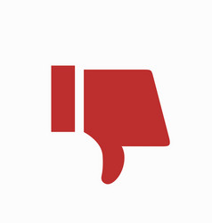 Modern thumbs down icon on white background vector